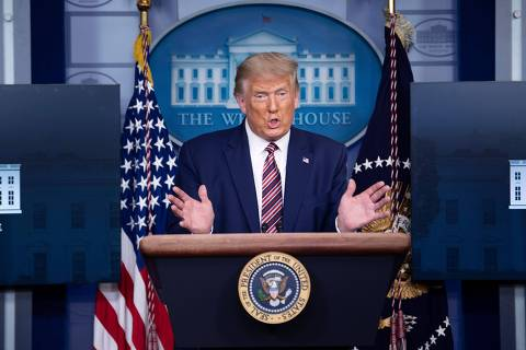 US President Donald Trump speaks during a briefing at the White House September 27, 2020, in Washington, DC. - US President Donald Trump paid just $750 in federal income taxes in 2016, the year he won the election, The New York Times reported September 27, 2020, citing tax return data extending more than 20 years. (Photo by Brendan Smialowski / AFP) ORG XMIT: 20200927 17421924-NIKON D5 60044