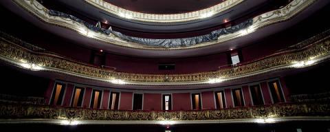 SÌO PAULO, SP, BRASIL, 06-06-2011, 18h: Area interna do Teatro Municipal de S?o Paulo, no centro da cidade, que reabre as portas no proximo dia 10 de junho. (Foto: Rodrigo Capote/Folhapress, ILUSTRADA) ***EXCLUSIVO FOLHA***