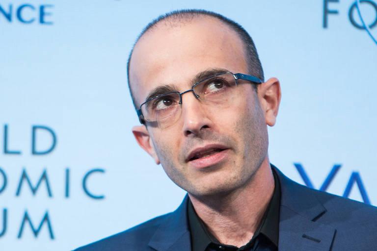 Yuval Noah Harari, professor da Universidade Hebraica de Jerusalém, no Fórum Econômico Mundial em Dvos, na Suíça