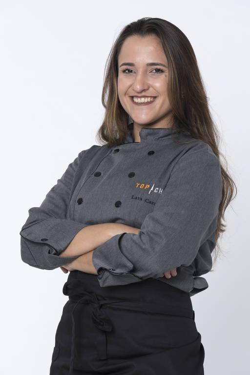 """Lara Carolina, 25 anos, Nasceu em Macaé (RJ) e mora em São Paulo (SP). """"É uma oportunidade única para mostrar o que eu sei e também aprender com os outros participantes."""""""
