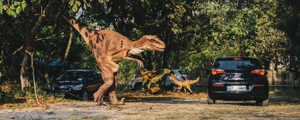 Jurassic Safari Experience, atração que leva dinossauros robôs a parque de São Paulo