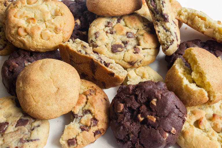 Os cookies da Ooey Cookies têm sabores como chocolate, macadâmia, pasta de amendoim e Nutella
