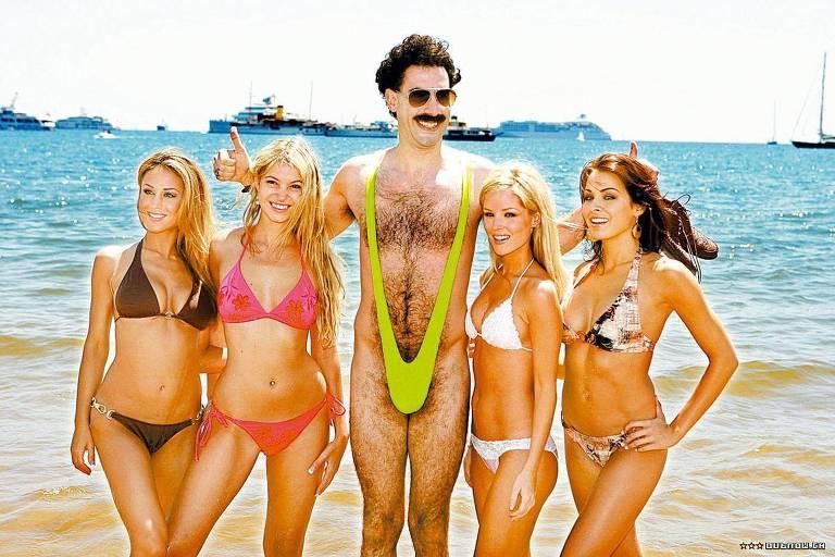 """O ator Sacha Baron Cohen em cena do filme """"Borat"""""""