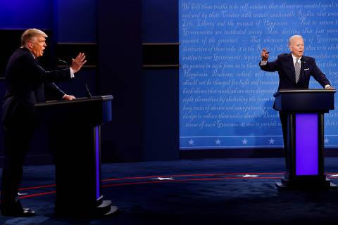 Em debate caótico, Biden manda Trump calar a boca e critica Brasil