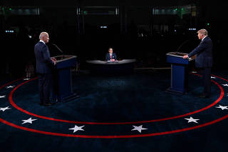 U.S. presidential election debate in Cleveland, Ohio