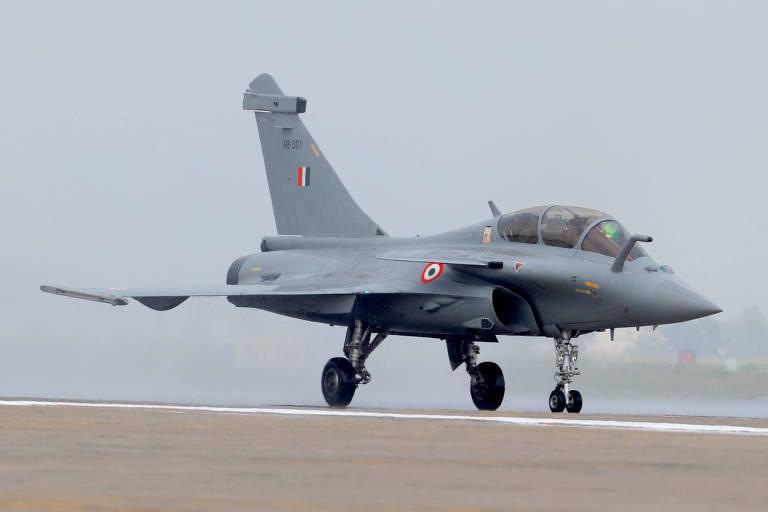 Imagem do caça Dassault Rafale fabricado pela Dassault Aviation
