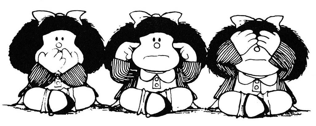 Última tira da personagem Mafalda, criada em 1973 pelo argentino Joaquín Lavado, o Quino