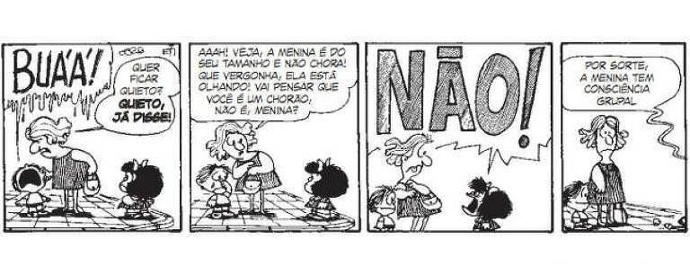 Mafalda é uma criança que não tem medo de enfrentar os adultos