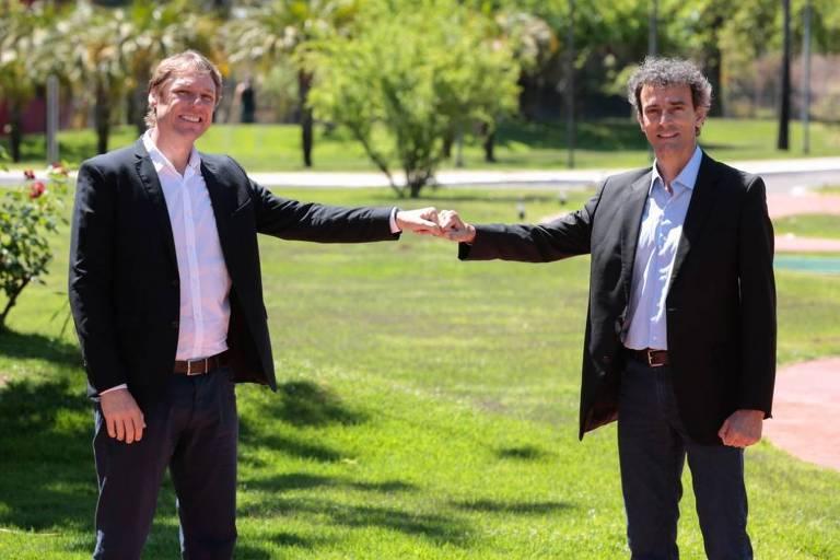 Rafael Westrupp e o seu vice Emanuel Rego concorrem à presidência do COB