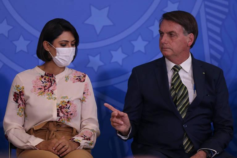 Michelle Bolsonaro torceu pela recuperação de Paulo Gustavo, crítico do governo