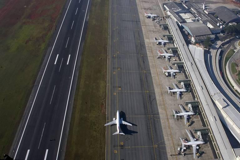 Pista do aeroporto internacional de Congonhas