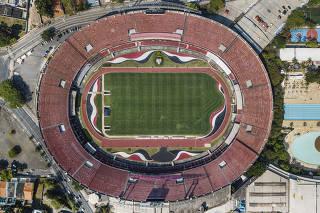 Vista geral do  Estadio Cicero Pompeu de Toledo- do Sao Paulo FC-  que completa 60 anos dia 02 de outubro