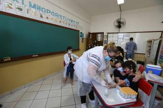 COVID-19/PANDEMIA - INICIO DOS TESTES DO COVID NA REDE MUNICIPAL DE ENSINO