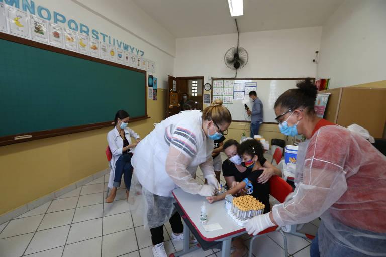 Pais testam filhos contra Covid, mas ainda estão inseguros quanto volta às aulas