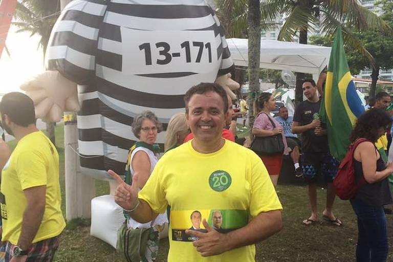 -O procurador Marcelo Rocha Monteiro, apoiador do presidente Jair Bolsonaro