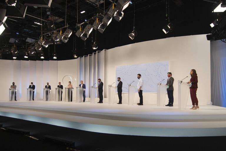 Formato engessado garante debate morno entre candidatos em SP