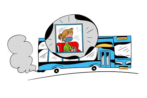 Ilustração para caderno de mobilidade urbana -  DESAFIO-DA-SEGURANÇA