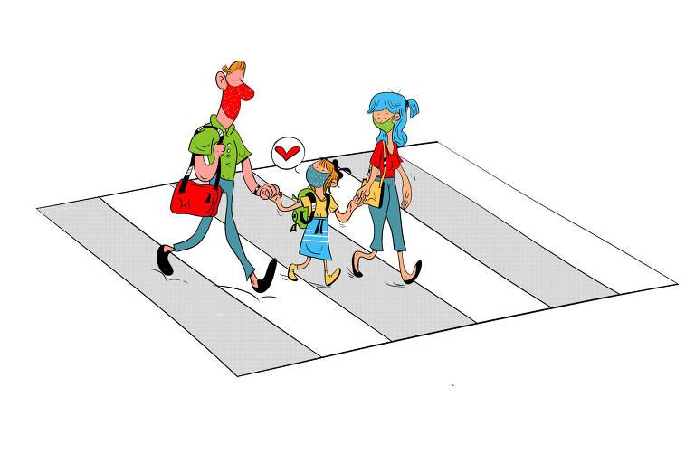 Ilustração para caderno de mobilidade urbana - Desafio das crianças
