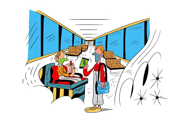 Ilustração para caderno de mobilidade urbana - Desafio das tarifas