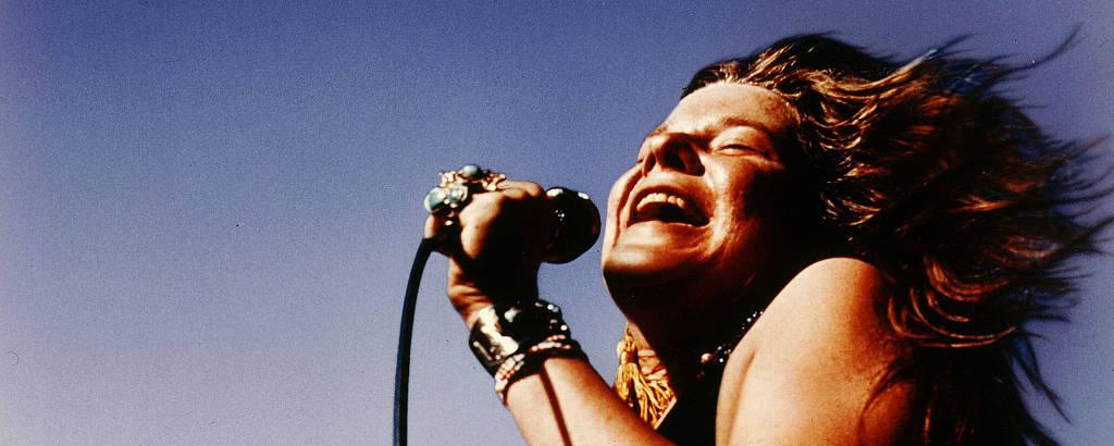 A cantora americana Janis Joplin