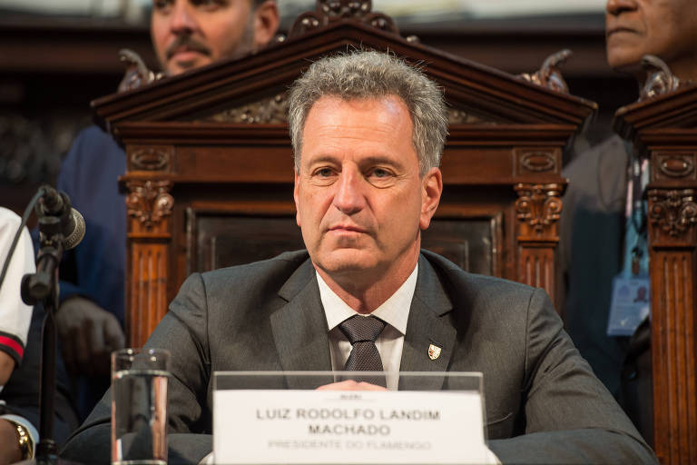 O presidente do Flamengo, Rodolfo Landim