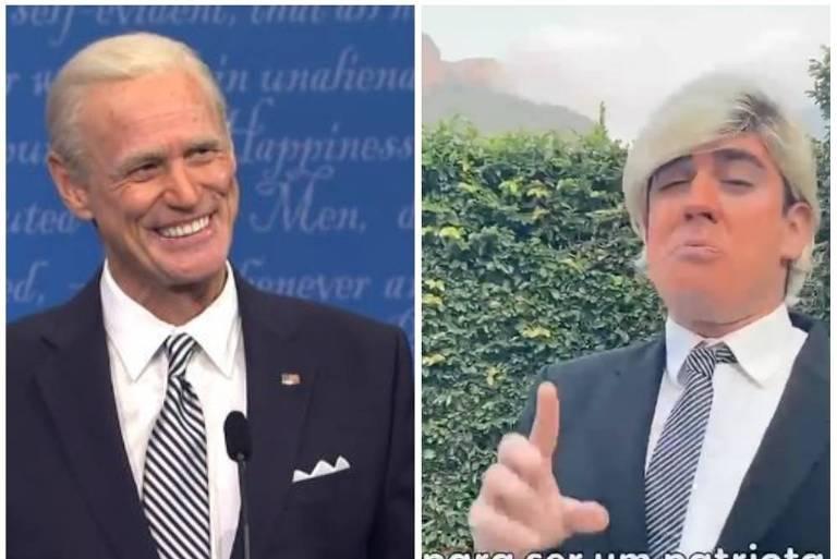Marcelo Adnet quer contracenar com Jim Carrey como Trump e Biden