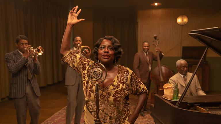 Imagens do filme A Voz Suprema do Blues