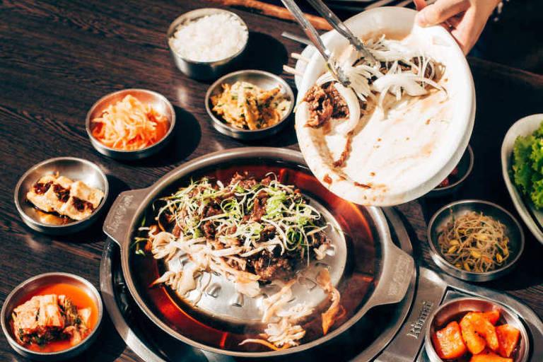 Restaurante Koreano Bicol,  na Aclimação