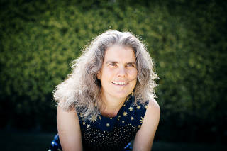 U.S. astrophysicist Andrea Ghez of the University of California, Los Angeles poses in an undated photograph