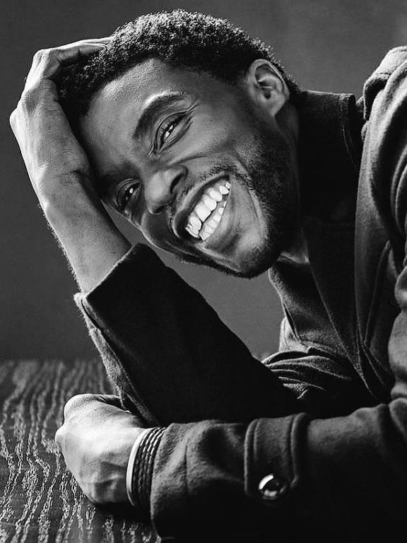 Imagens do ator Chadwick Boseman