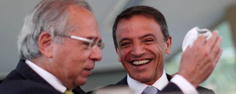 Ministro da Economia, Paulo Guedes, e senador Márcio Bittar (MDB-AC)