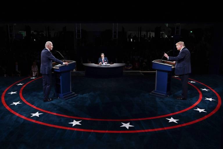 Joe Biden e Donald Trump participam do primeiro debate presidencial da campanha de 2020
