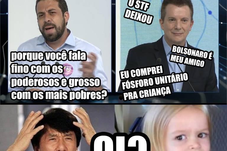 Meme publicado no perfil oficial de Guilherme Boulos (PSOL) critica Celso Russomanno
