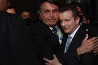 Celso Russomanno e Jair Bolsonaro em Congonhas