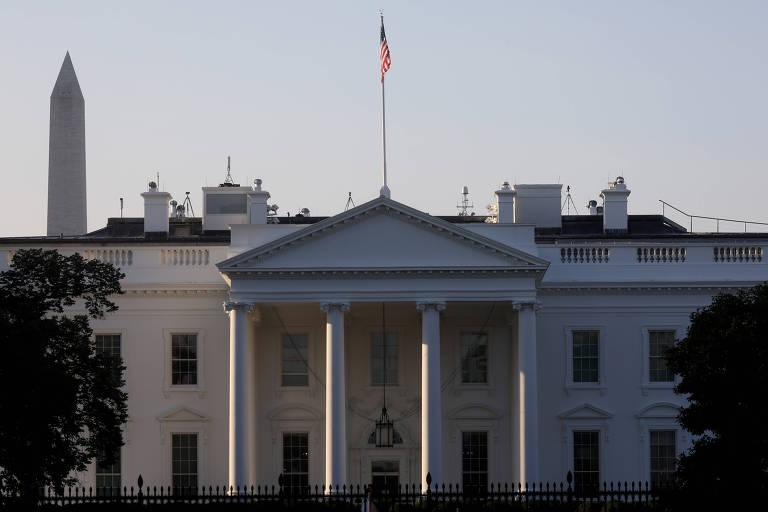 Fachada da Casa Branca, em Washington, onde o presidente Donald Trump está em quarentena