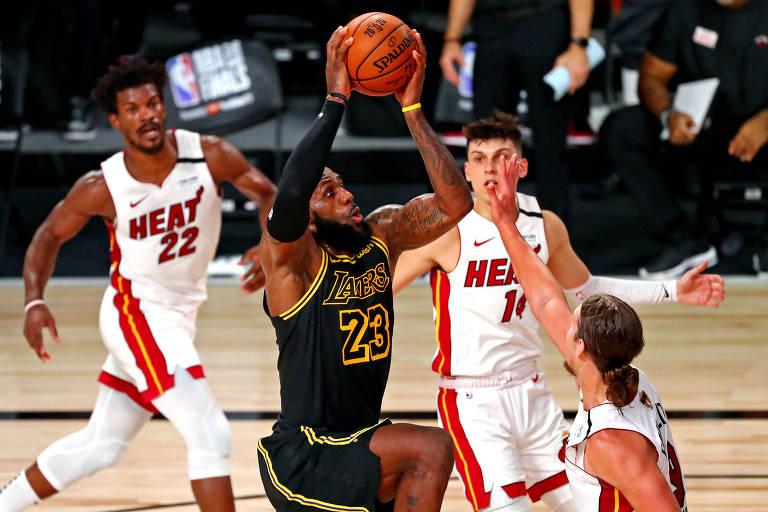 Lakers estão a um passo do título da NBA após 10 anos de pesadelos