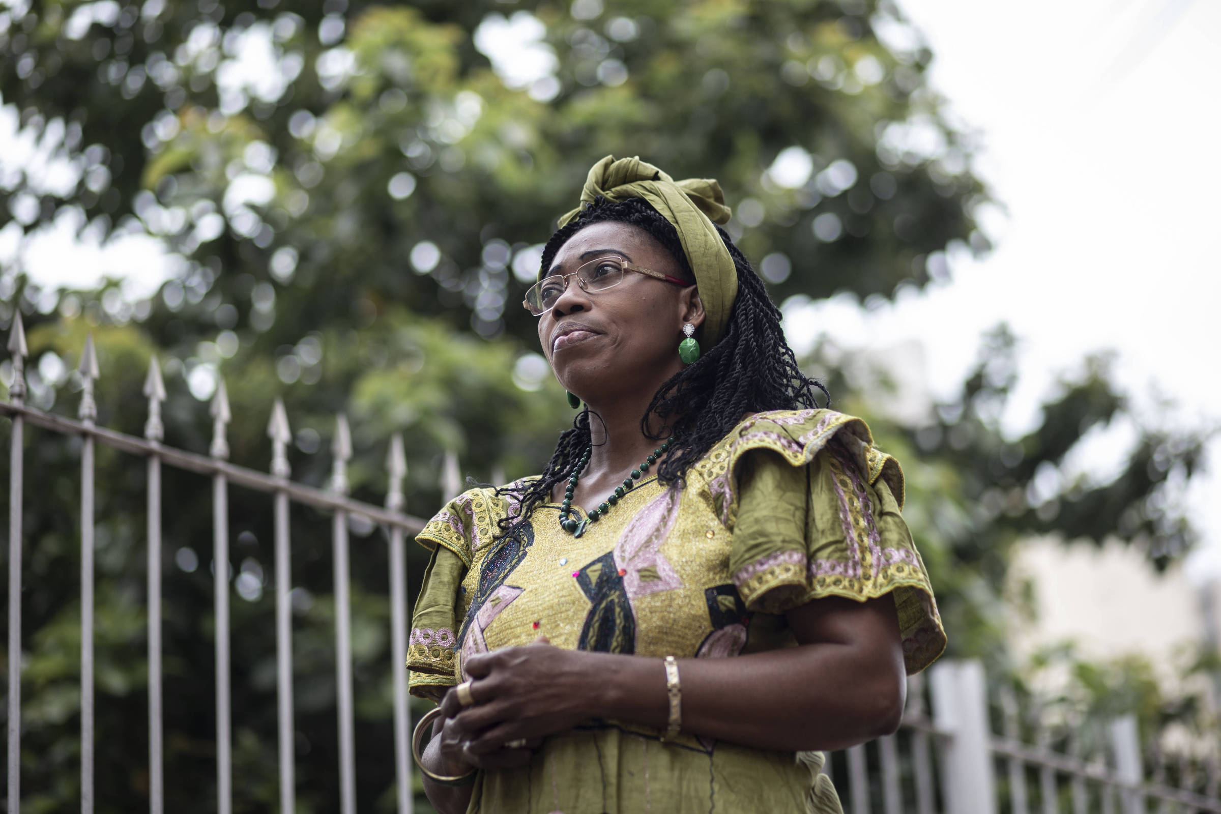 Claudine Shindany, que coordenava um grupo de mídia protestante em seu país e foi ameaçada por seu trabalho