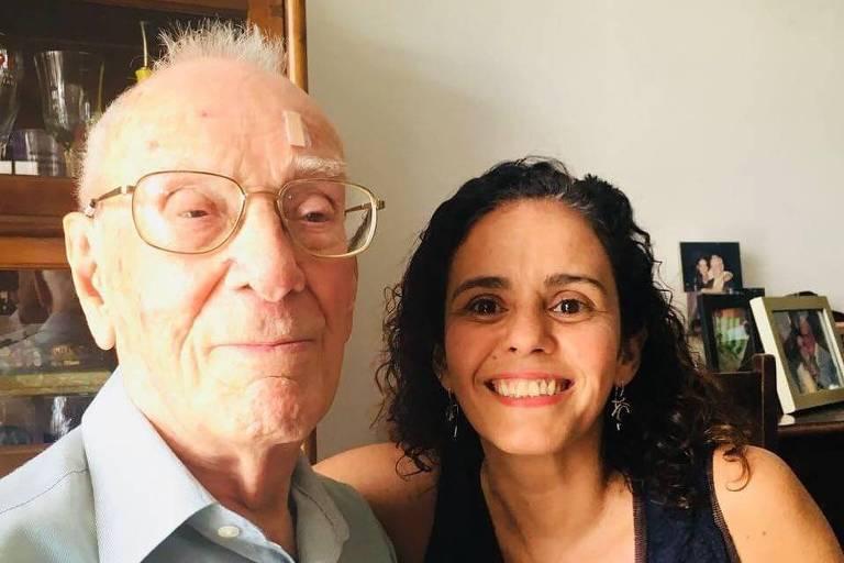 Cid Barbosa Lima (1918-2020) com a neta Tatiana Amendola