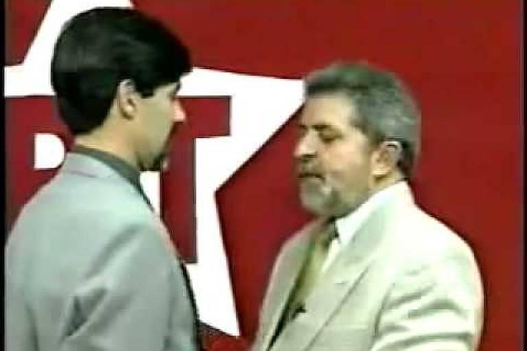 Fernando Marroni, então candidato à prefeitura de Pelotas, e o ex-presidente Lula, em 2000