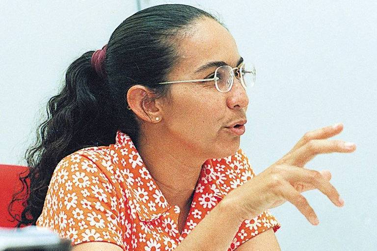 Heloísa Helena, então candidata do PT à Prefeitura de Maceió, em 1996