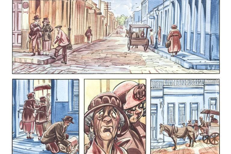 Página da história em quadrinhos Beco do Rosário