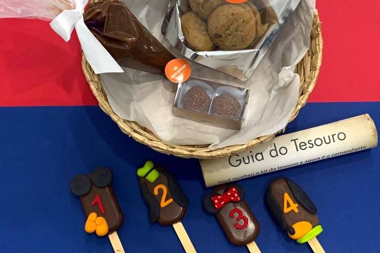 A cesta feita pela marca Nina Araujo para o  Dia das Crianças