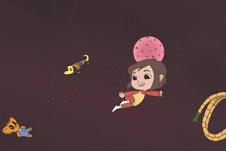Cena da animação 'Hornzz' (2019), de Lena Franzz, em cartaz no Cine Curtinhas