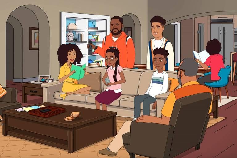 """Cena do episódio animado da série """"Black-ish"""""""