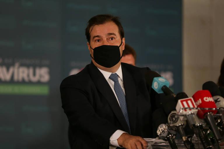 Presidente da Câmara, Rodrigo Maia (DEM-RJ) defende decisão de Marco Aurélio Mello, do STF (Supremo Tribunal Federal)