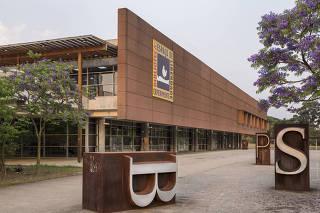 ***Ensaio Biblioteca Fechada***  Fachada principal da Biblioteca Sao Paulo no Parque da Juventude. Biblioteca esta fechada durante a quarentena e devera reabrir apos fase verde da pandemia ser anunciada