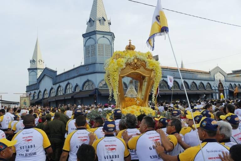 Veja imagens da procissão do Círio de Nossa Senhora de Nazaré, em Belém, em 2019