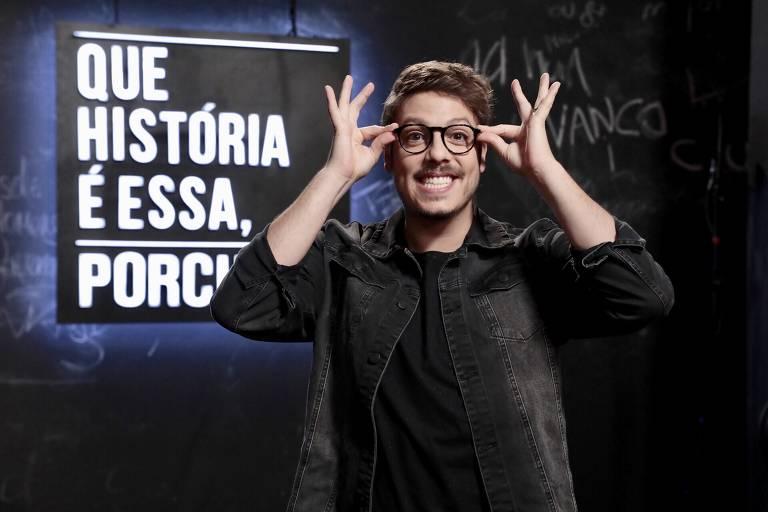 Fábio Porchat apresenta o programa Que História é Essa Porchat?