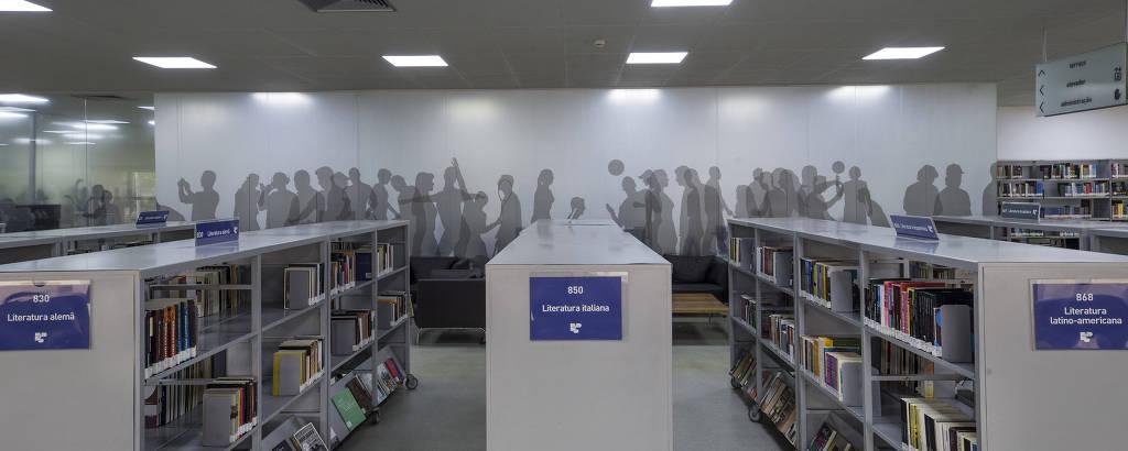 biblioteca vazia