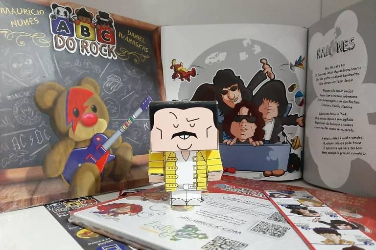 Livro infantil ABC do Rock, de Maurício Nunes e Daniel Ivanaskas
